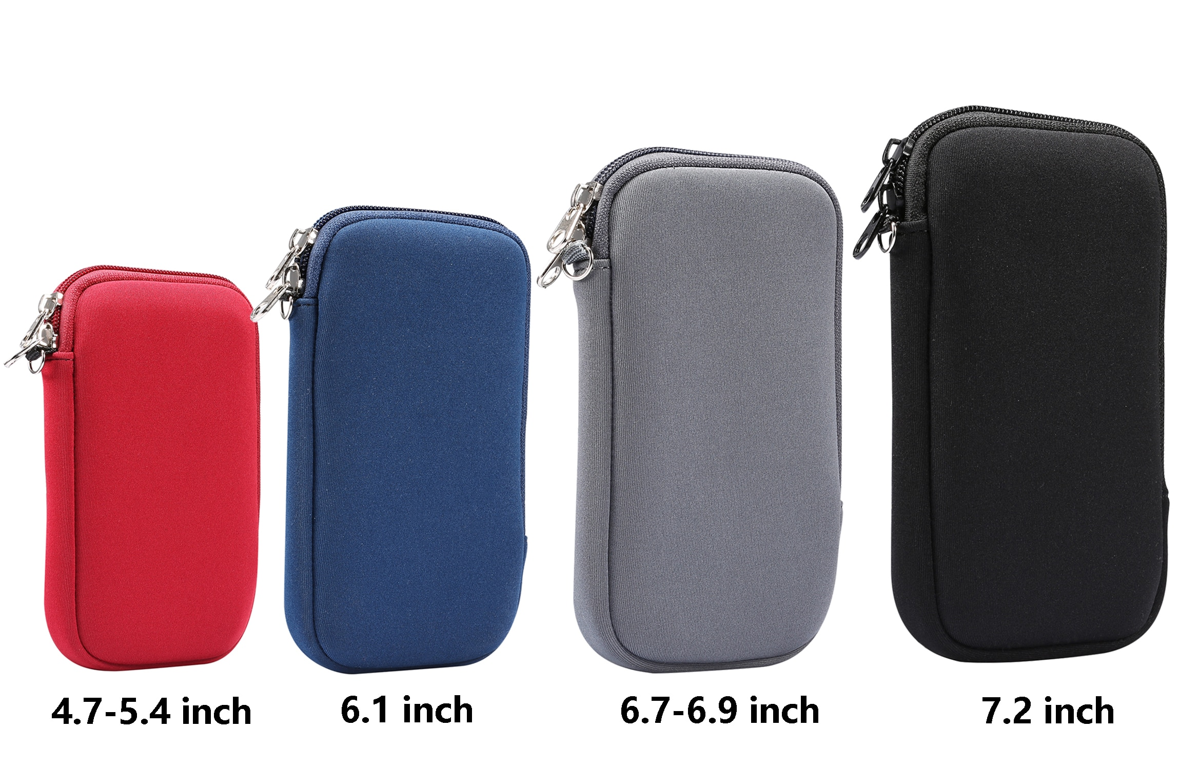 Neoprene bolsa saco luva caso para iphone 12 11 pro max xr xs max 12 mini para nota 20 s20 ultra a71 a51 zíper slot para cartão
