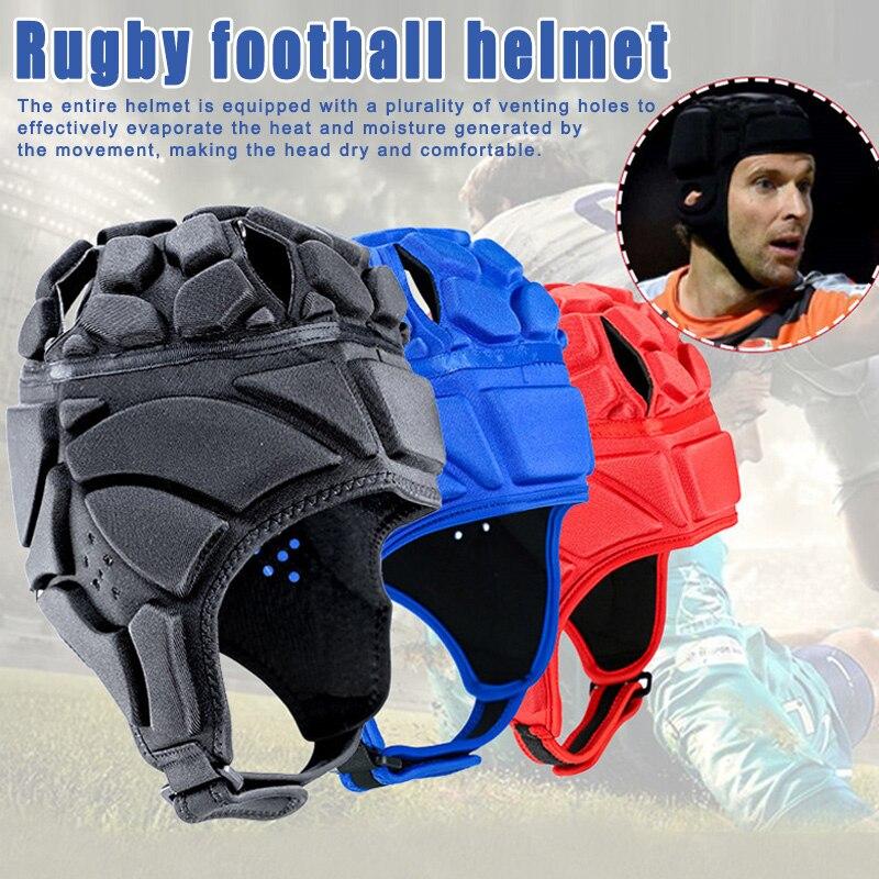 Nuevo profesional de fútbol Helmet Rugby Scrum de Headguard portero la cabeza de sombrero Protector de S66