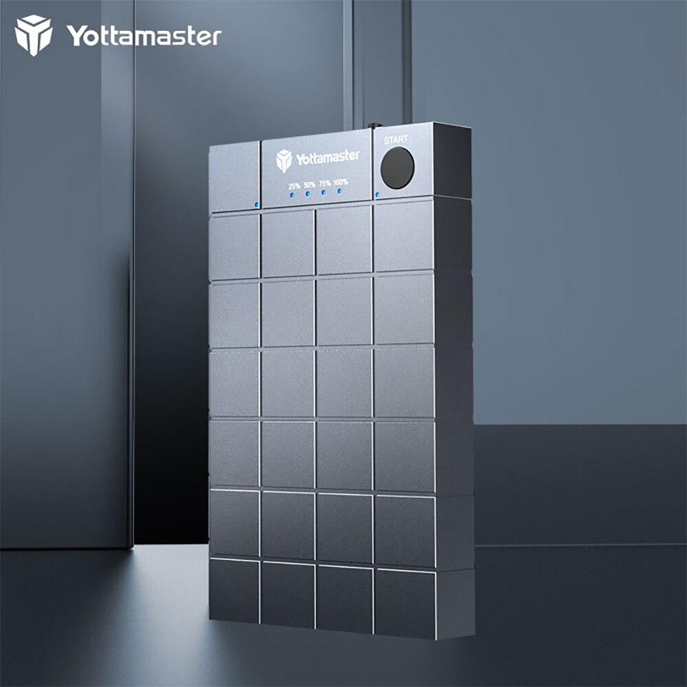 Yottamaster M.2 NVMe SSD Duplicators,M.2 to M.2 Stand-Alone Offline Clone Duplicator,10Gbps USB C Dual-Bay SSD Enclosure - [HC1]