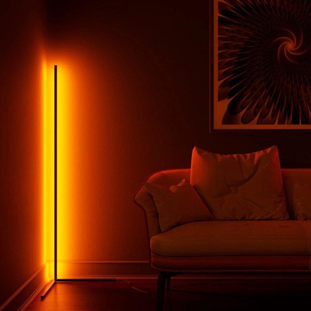 الشمال RGB ركن مصباح أرضي الحديثة بسيطة قضيب LED مصابيح أرضية لغرفة المعيشة غرفة نوم جو الدائمة تركيبات إضاءة داخلية