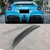 100 real carbon fiber rear trunk lip spoiler wing for ferrari f12 dmc style