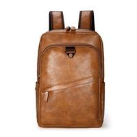 Мужской кожаный рюкзак, большой рюкзак для ноутбука, повседневная школьная сумка для мальчиков-подростков