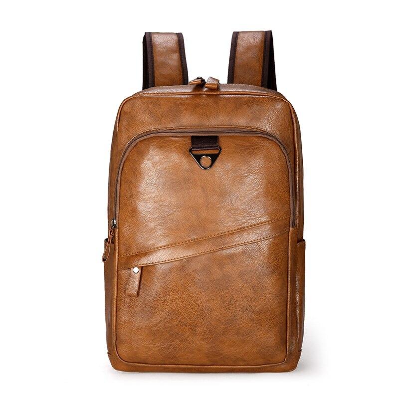 Mochila de cuero para hombres, mochila grande para ordenador portátil, mochila Casual para hombres, mochila para adolescentes, mochila de alta calidad