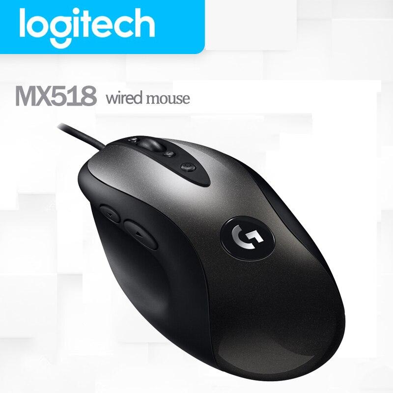 Ratón Logitech MX518 Original para videojuegos, the Legendary Mouse con Sensor de héroe, 16000DPI, Classic Fever Level, leyenda del ratón Reborn para jugadores de ratones