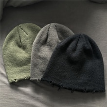 Hat Female Autumn Winter Wild 2021new Internet-Famous and Vintage Harajuku Style Thickened Ins Knitt