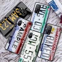 vintage old retro license plate glass phone case for xiaomi redmi note 9s 8 9 8t 7 9c for mi 10t pro 9t 10 lite tempered cover