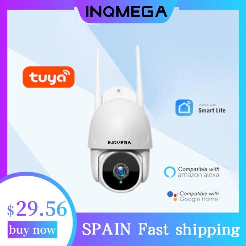 INQMEGA واي فاي تويا كاميرا سحابة ذكية 1080P PTZ IP كاميرا خارجية تتبع تلقائي جوجل المنزل اليكسا مراقبة CCTV كاميرا الأمن