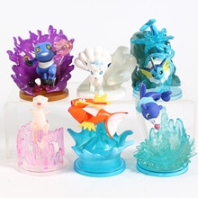 Anime dibujos animados monstruos galería Mew Vulpix poplio Groagunk Magikarp voreon figuras de PVC de juguete 6 unids/set