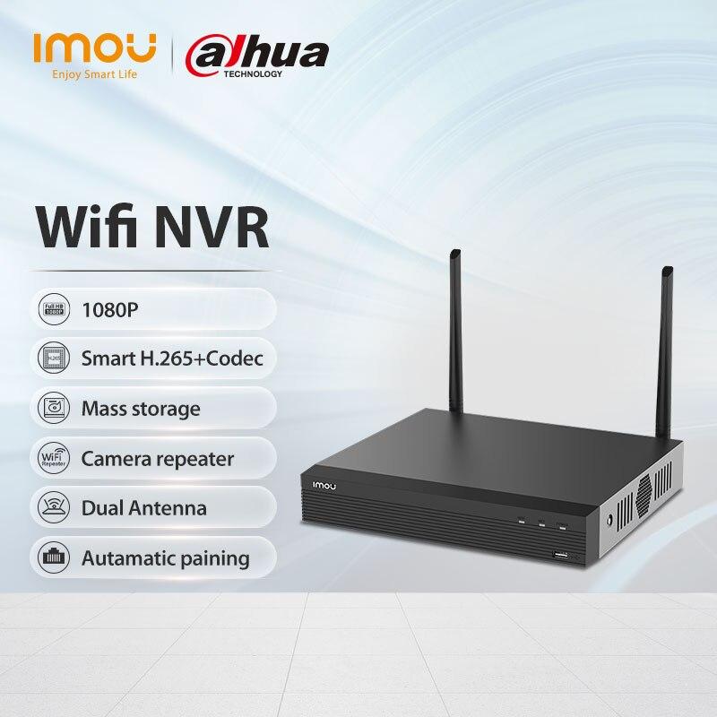 نظام أمن شبكة داهوا إيمو واي فاي 8CH لاسلكي NVR 1080P القرار غلاف معدني قوي يتوافق مع معايير ONVIF