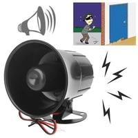 Alarme sirene sonore forte filaire 12V cc   Pour lexterieur  systeme de Protection de securite a domicile