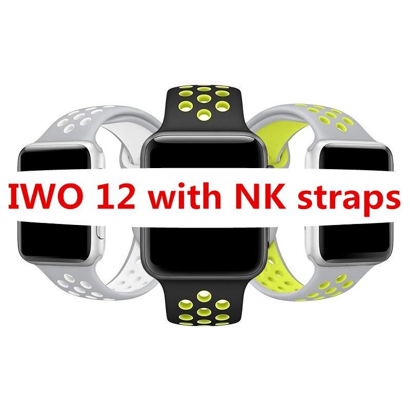 Reloj inteligente IP68 de la serie 5 W55 de la serie 5 W55 de la serie IPO 12 Lite de 2019, reloj deportivo ECG, ritmo cardíaco para IOS Android PK ewo 8 11