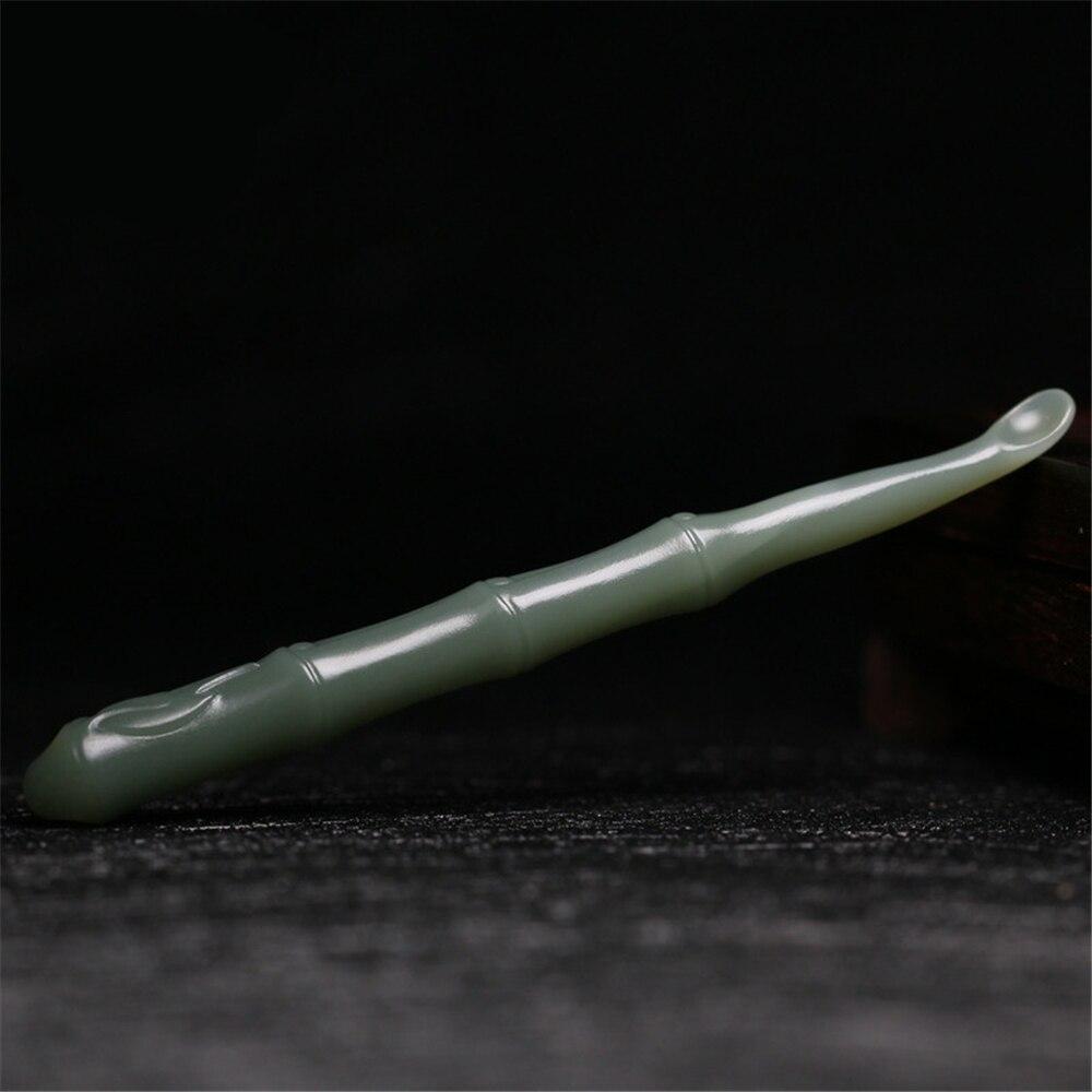 HIMABM 1 قطعة الأذن الشمع جامعو جاسبر اليشم Earpick الشمع مزيل كوريت الأذن اختيار نظافة الأذن نظافة ملعقة العناية الأذن نظيفة أداة