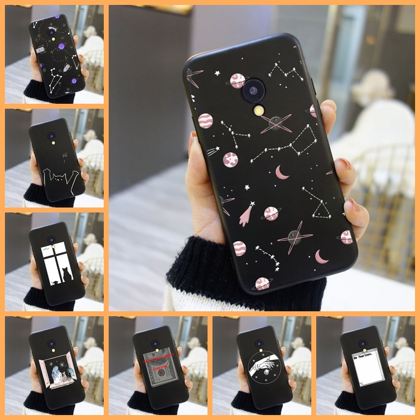 Phone Case For Meizu M2 M3 M3S M5 M5C M5S M6 M6S M6T Case Silicone Star Cat Space Soft Back Cover Fo