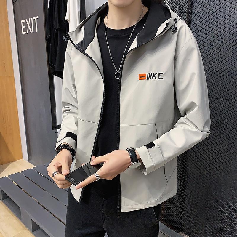 Мужская большая куртка. Загустите свое пальто. Вышитая застежка-молния. Молодежный досуг. M-8XL 109-J2170