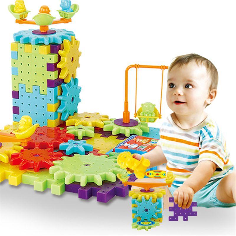AliExpress - 81 PCS Electric Gears 3D Model Building Kits Plastic Brick Blocks Educational Toys For Kids Children Gifts