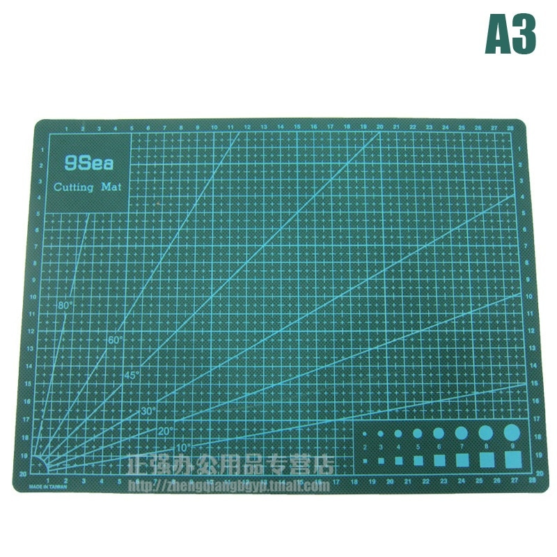 A3 Professional Self Healing Cutting Mat for Sewing,Quilting,Hobby;  Non-glare Surface Double Sided  3mm Thick, 30x45cm