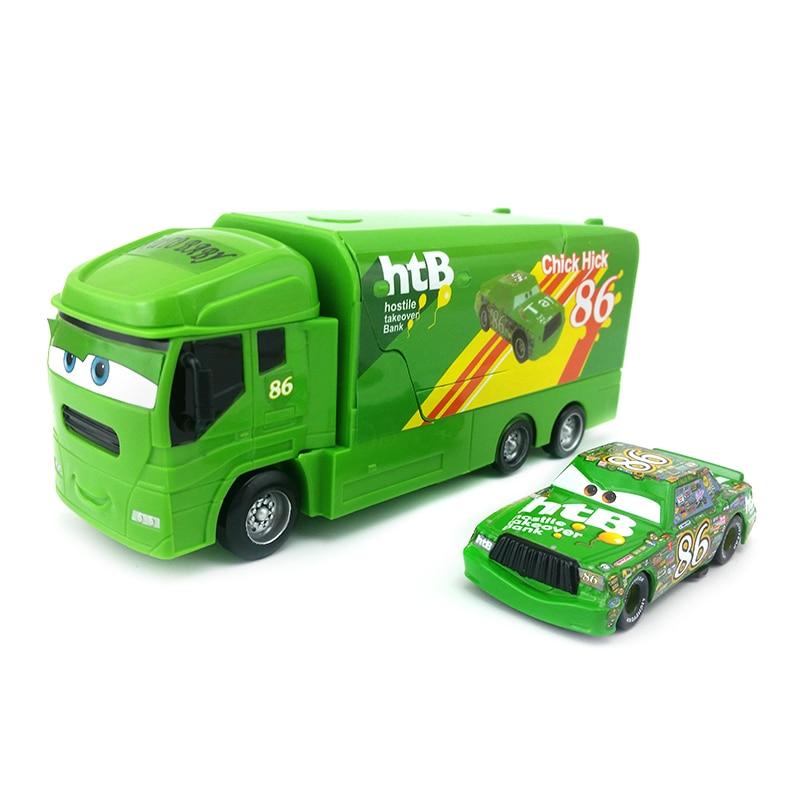Disney Pixar Тачки 2 3 игрушки Молния Маккуин Джексон шторм Мак дядя грузовик 1:55 литые модели автомобилей для детей рождественские подарки