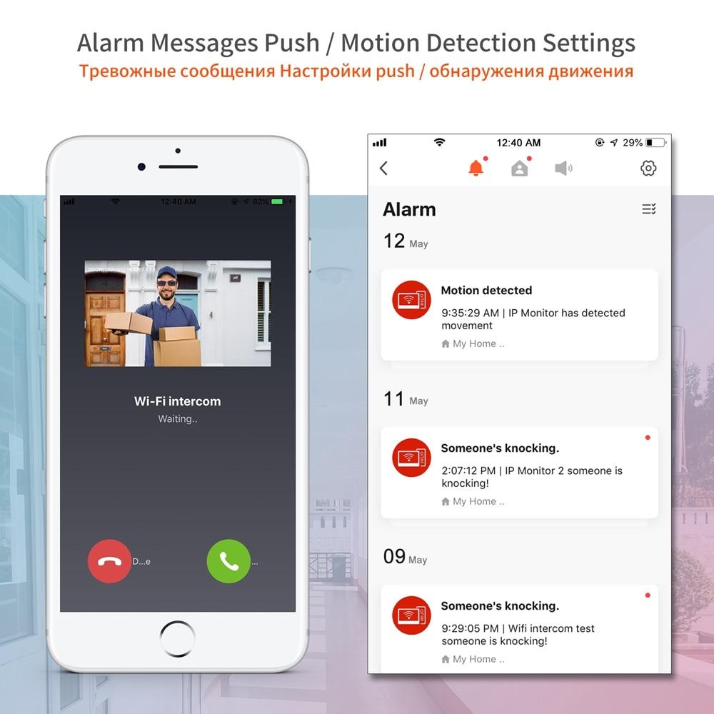 TUYA WIFI Video Intercom for Home 2 Screen Video Doorbell Camera 1080P  Call Panel IP Door Phone Intercom System Open 2 Lock enlarge