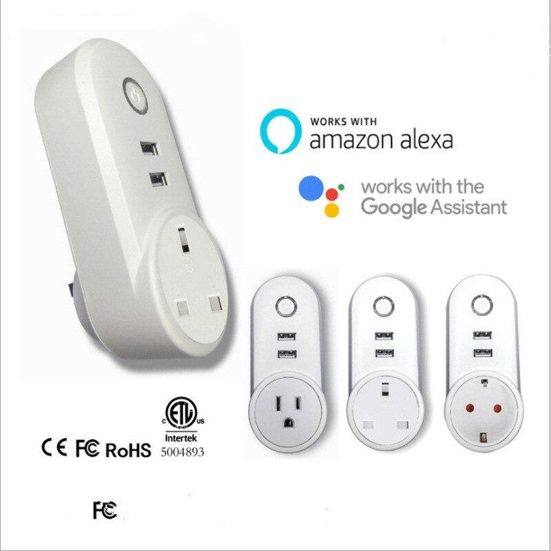 Alexa-مفتاح WiFi مع صوت ، مفتاح حائط منزلي ذكي مع تطبيق الهاتف المحمول ، مؤقت للتحكم عن بعد ، معيار الاتحاد الأوروبي/الاتحاد الأفريقي/المملكة المت...