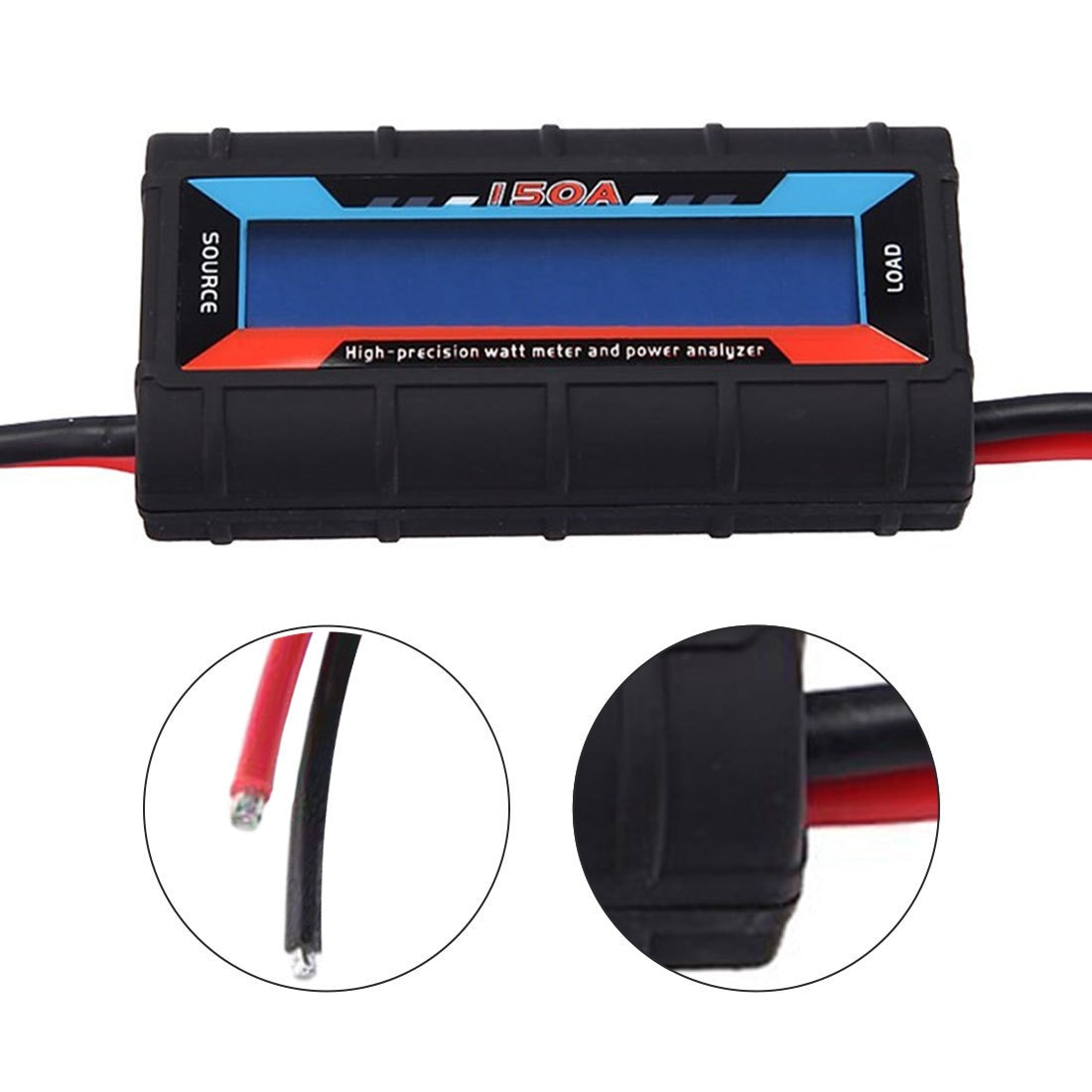 Current Power Analyzer 150A RC Tools High Precision Watt Meter with Backlight LCD Drone Accessories