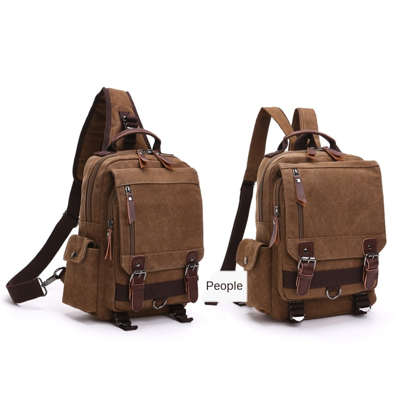 New Backpack Fashion Canvas Outdoor Travel Messenger Bag Ol for Both Men and Women Single and Double Shoulder Backpack institute 2016 original rivet double shoulder the new tide leisure backpack fashion wind weave backpack travel