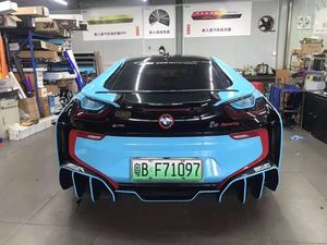 14-18 Car Rear Spoiler Wing for BMW i8  Carbon Fiber Car Spoiler Rear Trunk Wing Boot Lid Lip