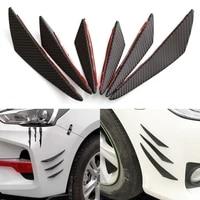 6pcsset universal front bumper lip decoration diffuser splitter fins body spoiler canards valence chin car tuning canard