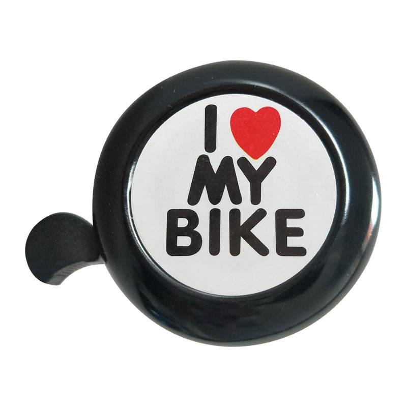 Timbre para bicicleta-I Like My Bike-timbre para bicicleta de aluminio con volumen, accesorios para minibicicleta para adultos, hombres, mujeres, niños y niñas