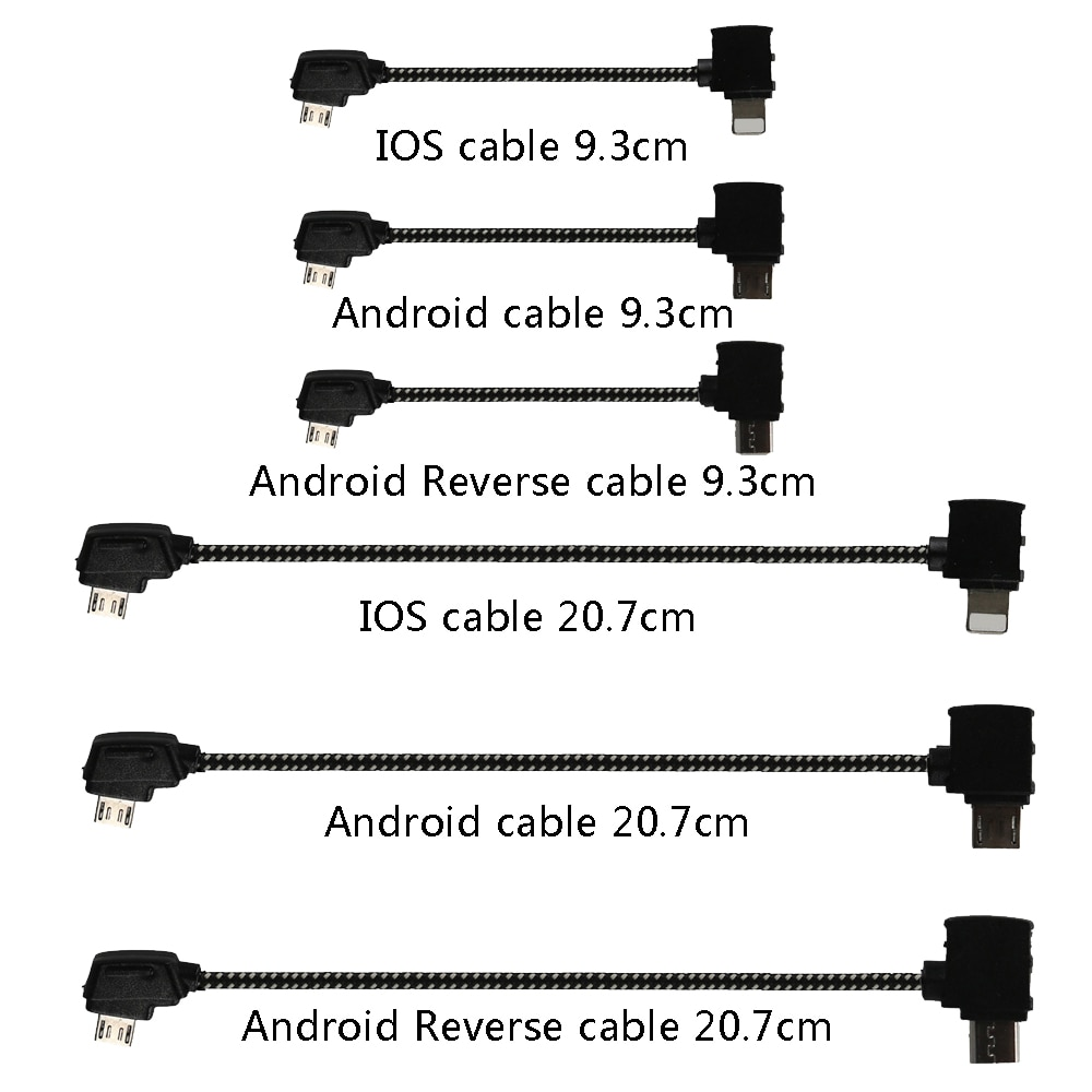 Data Cable OTG Remote Controller to Phone Tablet Connector Micro USB Type-C IOS Extend Cable for DJI