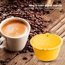 Filtres pour capsules à café en acier inoxydable   Accessoires de café réutilisables, couleur brillante, compatibles avec Dolce Gusto