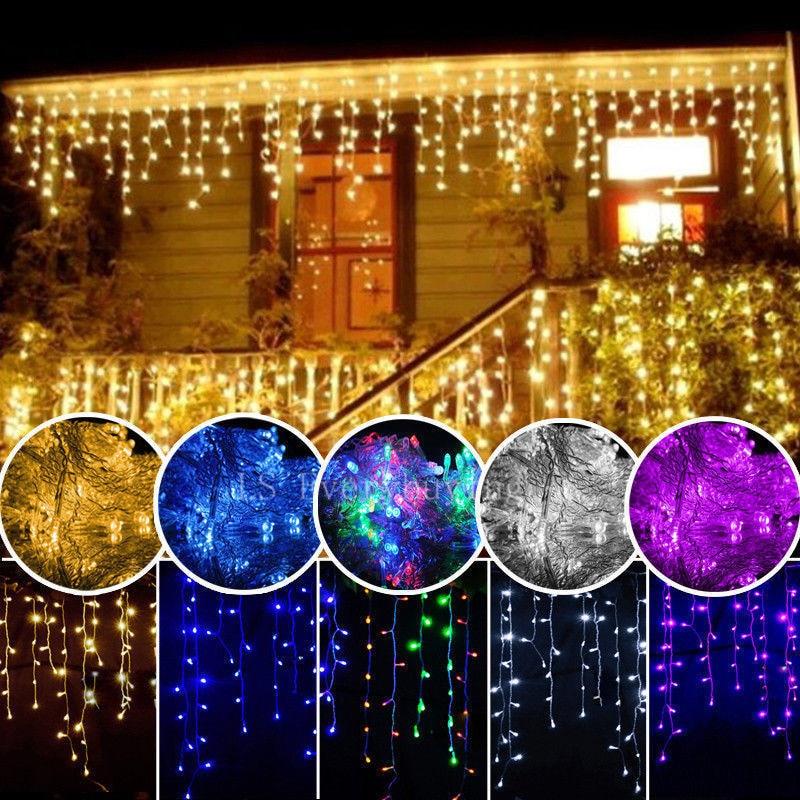 Milad işıqları açıq dekorasiya 5 metr enmə 0.4-0.6m LED pərdə - Bayram işıqlandırılması - Fotoqrafiya 2