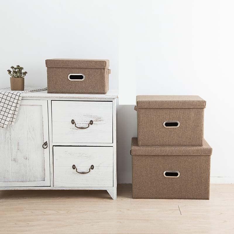 للطي القطن الكتان خزانة ملابس صندوق كبير خزانة مستطيل صندوق تخزين المنظم مع غطاء المحمولة s2 s200n09