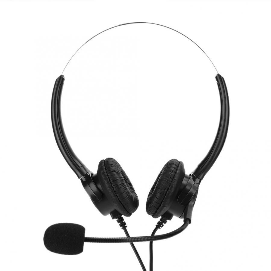 earbud Home Office Headset Binaural Earphone with Microphone for Telephone Landline Phone audifono Headset for Landline Phone