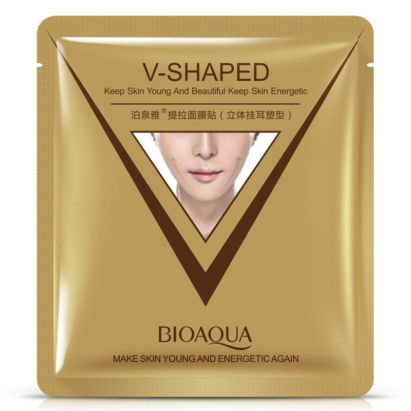 5Pcs/Lot BIOAQUA Firming 3D Facial Mask V Line Slimming Lifting Shaping Whitening Moisturizing Brighten Mask Skin Care