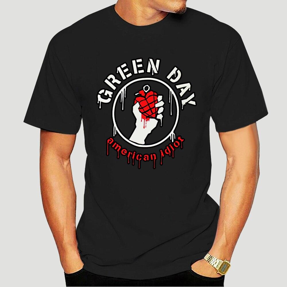 Camiseta negra con Logo de goteo para adultos... camiseta informal de banda...