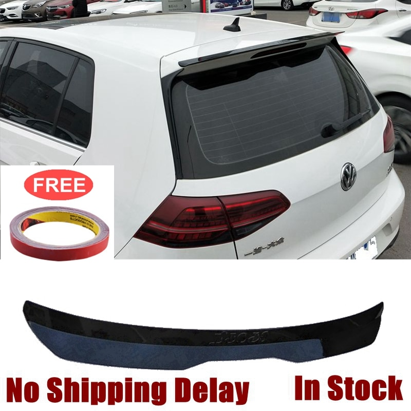 for honda civic spoiler 2016 2017 type r style car decoration rear roof tail wing abs plastic black carbon fiber pattern spoiler UBUYUWANT Car Rear Window Roof Spoiler For Volkswagen Golf 7 MK7 VII GTI R Rline Spoiler 2014 2015 2016-2019 ABS Tail Rear Wing
