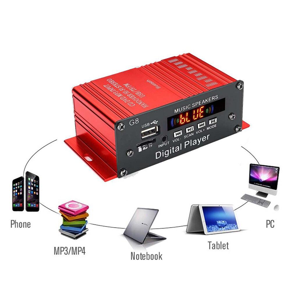 100W + 100W 12V 2CH de Audio de coche Amplificador HIFI Amplificador...