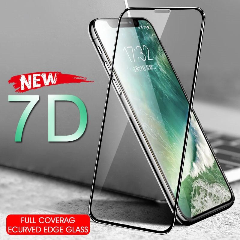 7D закаленное стекло для iPhoneX XS 6 6S 7 8 Plus 11pro max XR защита экрана SE 2020 Защитная пленка для iPhone 8 7 SE 2 11 pro стекло