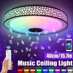 NEW 40CM Modern RGB LED Ceiling Light Home Lighting APP bluetooth Music Lamp Bedroom Smart Ceiling Lamp Remote Control
