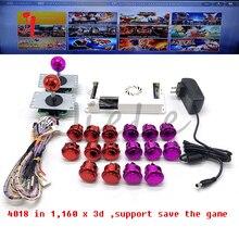 Kit darcade bricolage avec 3d 4018 en 1 wifi conseil arcade bouton copie sanwa joystick adaptateur dalimentation câble 40pin pour boîte pandora