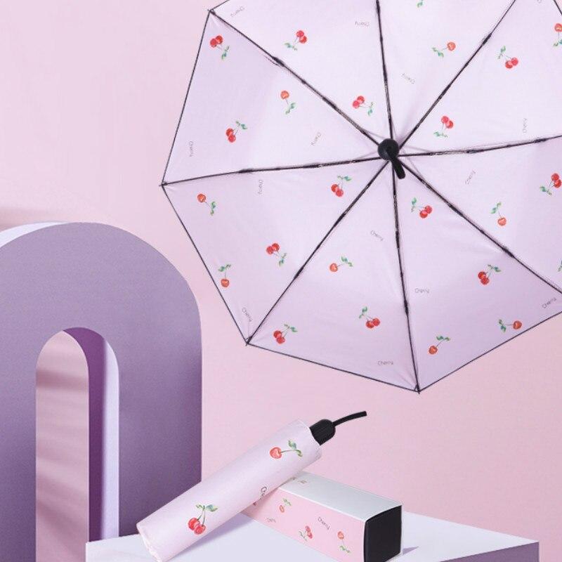 Cápsula De paraguas Para mujer, sombrilla automática Plegable Para Sol, Jardin, Pied,...