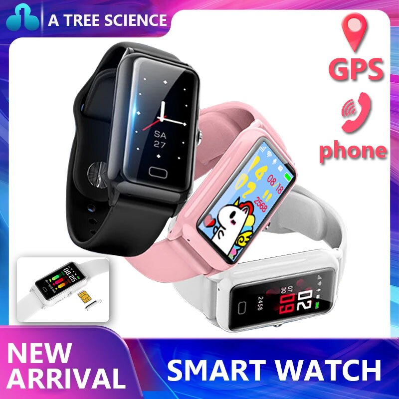 Smart Watch DS66 SIM Card Heart Rate Blood Pressure GPS positioning Sync Calls SMS Support Android IOS Phone Wrist Band child