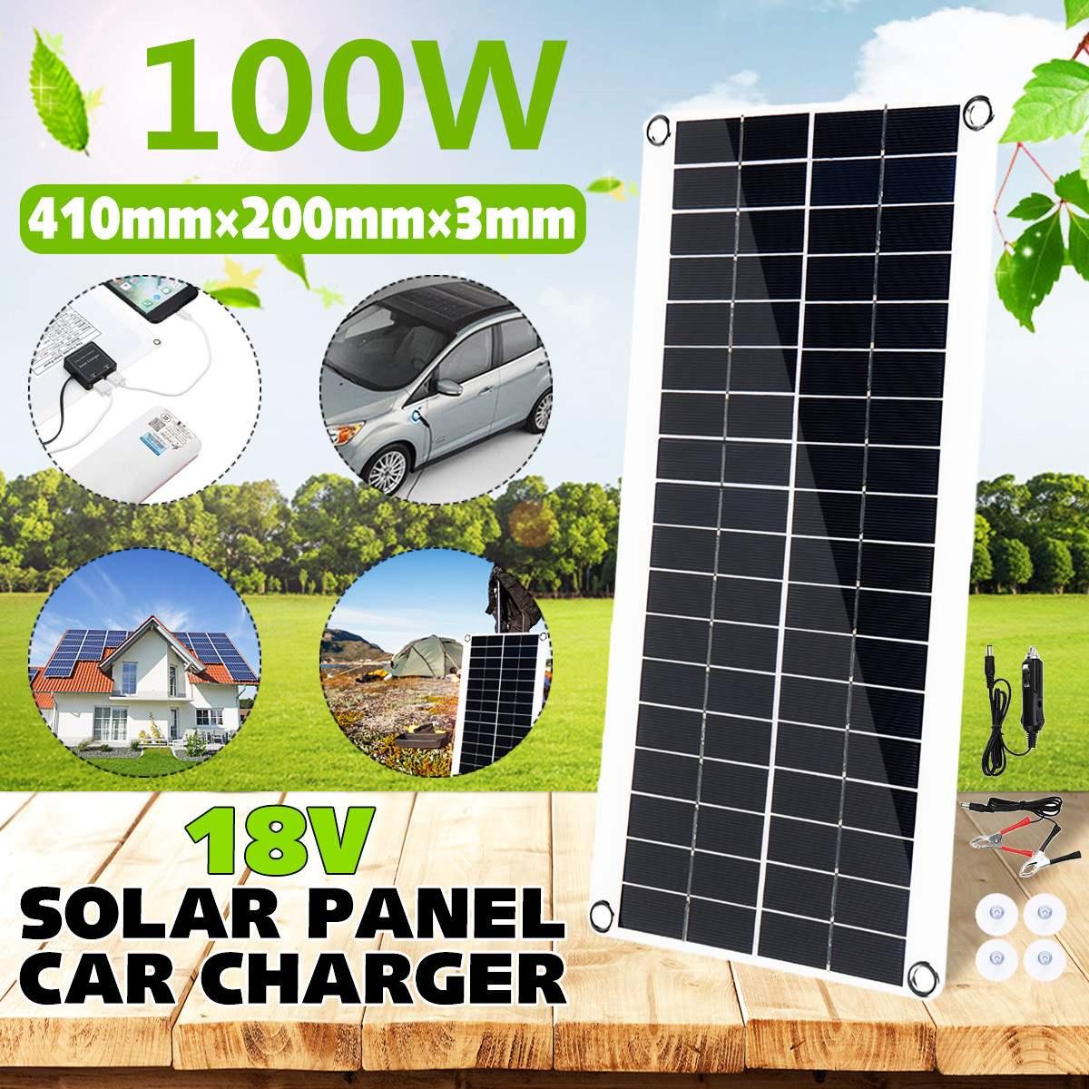 100W Tragbare Solar Panel Doppel USB Power Bank Bord Externe Batterie Lade Auto Ladegerät Solarzelle Bord 410X200mm