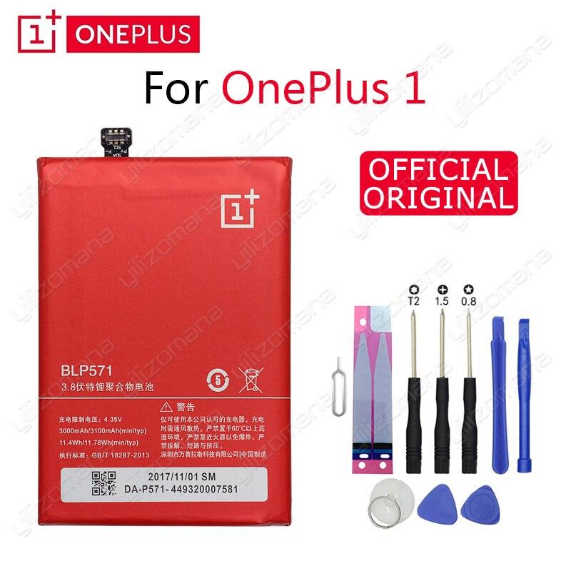 Один плюс оригинальный аккумулятор для телефона BLP571 3000/3100 мАч для OnePlus 1 A0001 Высокое качество Замена литий-ионных батарей Бесплатные инструменты