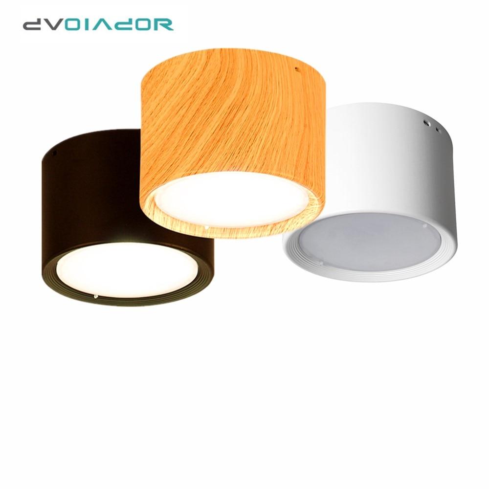 moderna lampada do teto 5 w 12 luzes de teto de madeira superficie montado conduziu