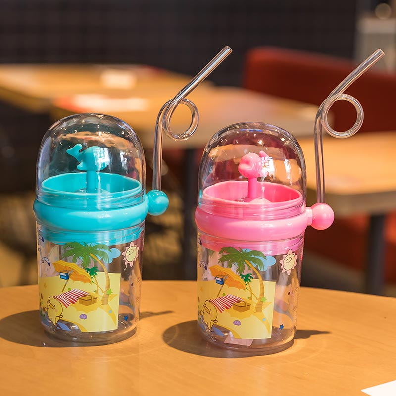 250ml Baby Feeding Cup Kids Funny Whale Water Spray Drinking Cup Cartoon Bottles With Straws Outdoor Children Cups Drinkware cups stor 82306 mug drinkware water bottle kids feeding bottles for baby