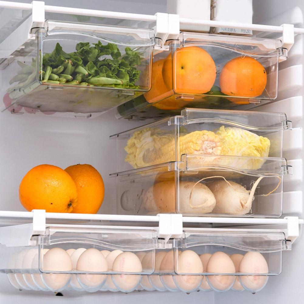 AliExpress - Kitchen Storage Rack Fridge Organizer Shelf Slide Under Shelf Drawer Refrigerator Drawers Fruit Vegetables Egg Storage Box