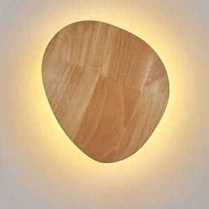 Hartisan светодиодный настенный светильник, украшение из цельного дерева, Круглый Овальный настенный светильник для детей, прикроватный свети...