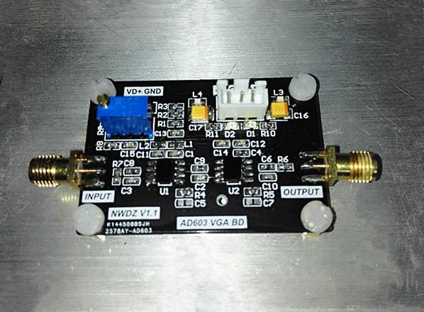 Amplificador de banda ancha, módulo AD603 de amplificación Variable controlado por programa, rango de 20 ~ 60D, ancho de banda de 90M