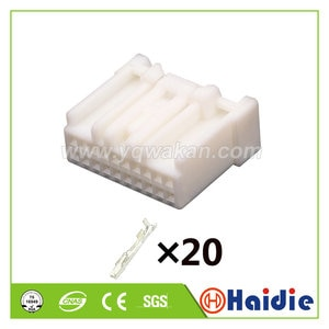 2sets 20pin auto female of 6098-4589 wiring harness cable auto unselaed connector 6098-4595